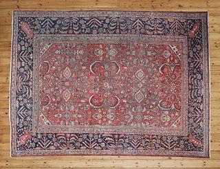 A Persian wool Mahal carpet,