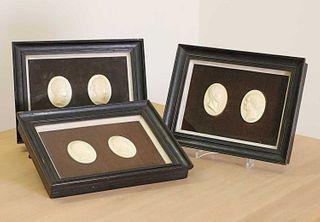 A set of six Italian grand tour ivory plaques,