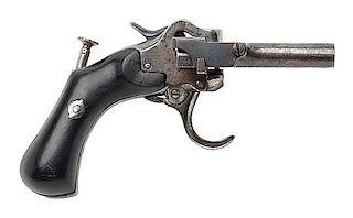 Rare A. Jarre Six-Barrel Harmonica Pistol