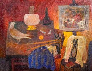 Carmen D'Avino Oil on Wood Panel The Studio