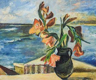Signed Porges Oil on Canvas Still Life