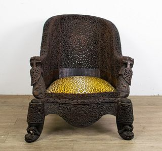 19th Century Anglo Indian Carved Chair