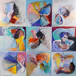 Calman Shemi Oil on Canvas Stone Cuts
