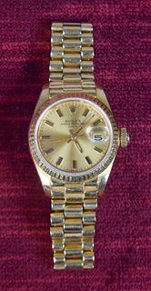 Ladies 18K Gold Rolex Watch