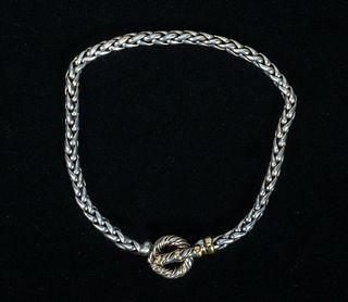 Tiffany & Co. Sterling & 18k Gold Necklace