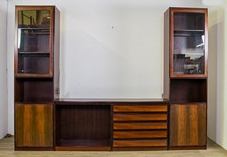 Danish Modern Rosewood 3 Section Cabinet