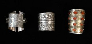 Grouping of Tribal Silver Cuffs