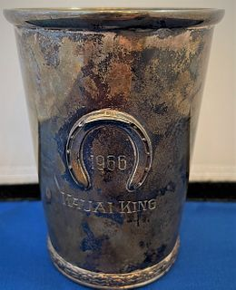 Official Kentucky Derby Sterling Mint Julep Cup 1966