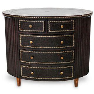 Maitland Smith Leather Embossed Dresser