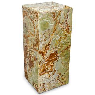Square Onyx Pedestal