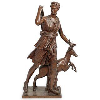 Ferdinand Barbedienne (1810-1892) The Huntress Bronze