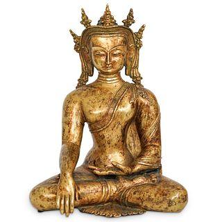 Sino-tibetan Gilt Bronze Buddha