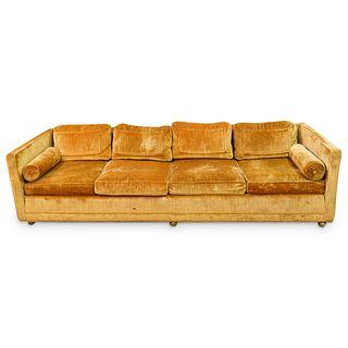 Mid Century Four Seater Velvet Flair Inc. Sofa