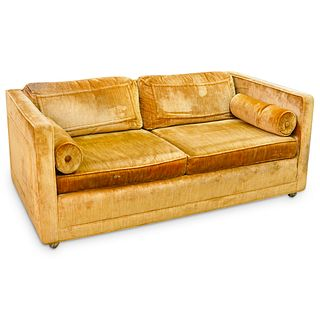 Mid Century Two Seater Velvet Flair Inc. Sofa