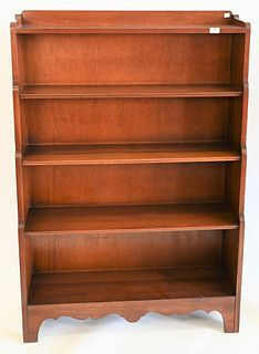 Stickley Cherry Bookshelf, height 54 inches, width 36 inches.