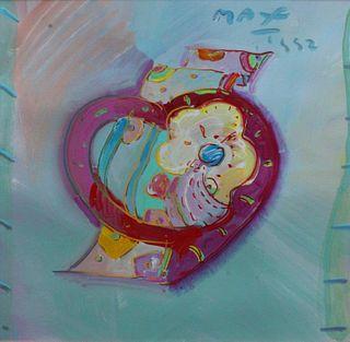 Peter Max - Flower Heart