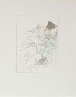 Louis Icart - Untitled Drawing for La Nuit et le Moment