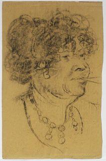 Georges Henri Manzana Pissarro - Untitled (Woman with