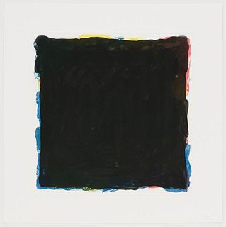 Sol Lewitt - Black Over Colors (Red Yellow and Black)