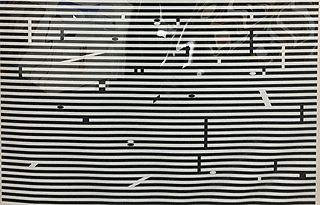 """Yaacov Agam - V from """"Double Metamorphosis"""""""