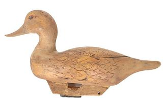 Canadian, Antique Hand Carved Wooden Duck Decoy