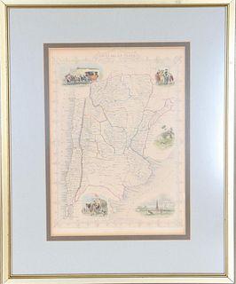 Early Map of Chile La Plata