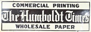 Metal Sign from The Humboldt Times