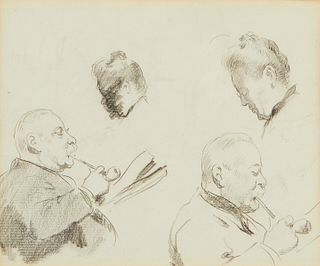Edgar Degas Double Sided Drawing