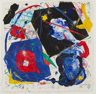 Sam Francis Abstract Monotype