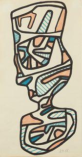 "Jean Dubuffet ""Le Verre d'Eau III"" Original Drawing 1966"