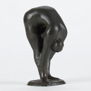 Nic Jonk Sculpture Bending Woman
