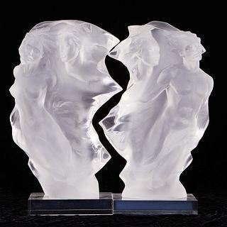 """Frederick Hart """"Duet"""" Acrylic Sculpture"""
