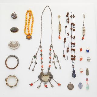 Grp: 18 Pieces Chinese Jewelry