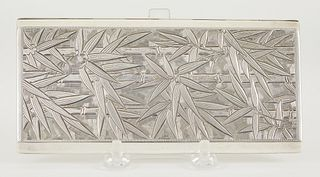 Japanese Export Silver Cigarette Case