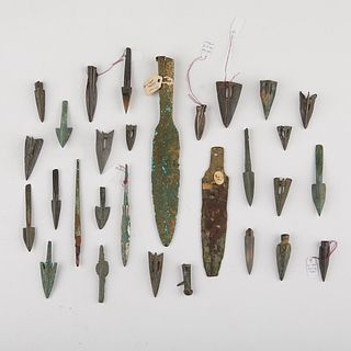 Grp: 29 Chinese Bronze Blades & Arrowheads