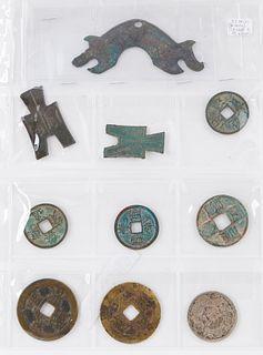 Grp: 73 Chinese Asian Bronze Metal Money Book
