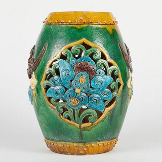 Chinese Late Ming Fahua Garden Barrel