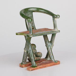 Ming Dynasty Terracotta Tomb Chair