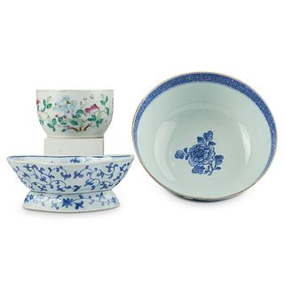 Grp: 3 19th c. Chinese Porcelain Bowls