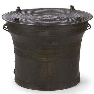 19th c. SE Asian Bronze Rain Drum