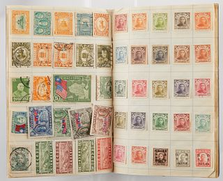Large Vintage Chinese Stamp Collection in Album