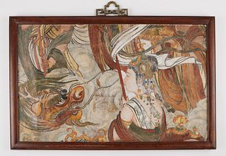 Ming Dynasty Chinese Frescoe