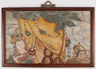 Ming Dynasty Chinese Fresco