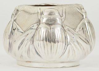 Tiffany & Co. Sterling Scarab Vase