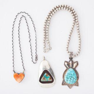 Grp: Southwestern Silver Necklaces