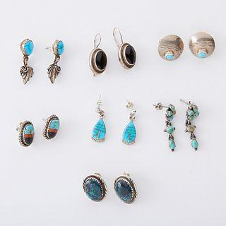 Grp: Southwestern Silver & Turquoise Earrings