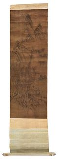 Classical Style Chinese School Scroll Painting