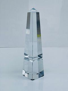 Crystal Glass Obelisk, New in the Box