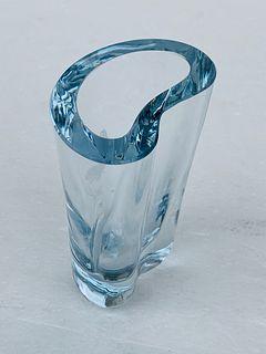 Freeform Crystal Vase by Strombergshyttan