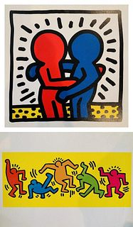 Keith Haring Offset Post Cards by Nouvelles Images 1991